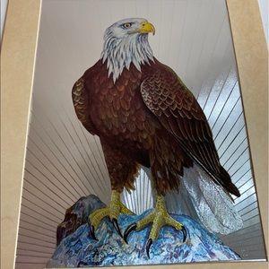 Vintage Dufex English Print Bald Eagle Foil Print